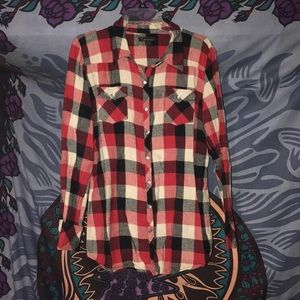 Forever 21 plaid shirt size large
